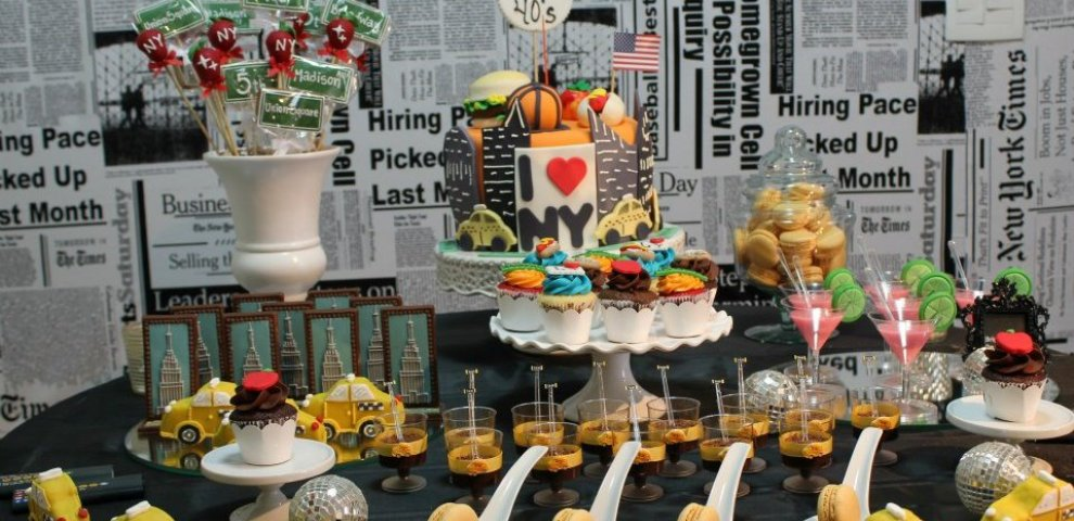 New York themed party ideas