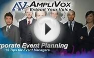 15 Corporate Event Management Tips: Guide to Planning and